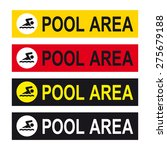swimming pool area sign vector... | Shutterstock .eps vector #275679188
