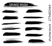set of hand drawn grunge brush | Shutterstock .eps vector #275682464
