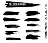 set of hand drawn grunge brush | Shutterstock .eps vector #275682470