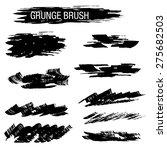 set of hand drawn grunge brush | Shutterstock .eps vector #275682503