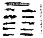 set of hand drawn grunge brush | Shutterstock .eps vector #275682530