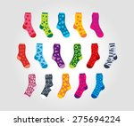set of of socks with different... | Shutterstock .eps vector #275694224