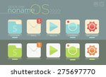 vector template of simple dock...