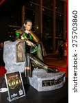 Small photo of Bangkok - May 2: A Loki model in Thailand Comic Con 2015 on May 2, 2015 at Siam Paragon, Bangkok, Thailand.