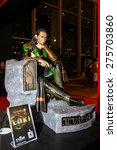 Small photo of Bangkok - May 2: A Loki model in Thailand Comic Con 2015 on May 2, 2015 at Siam Paragon, Bangkok, Thailand.