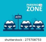 parking design over blue...   Shutterstock .eps vector #275708753