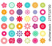 samples of colorful flower... | Shutterstock .eps vector #275713730