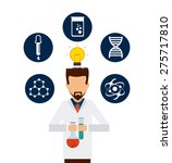 scientific laboratory design ... | Shutterstock .eps vector #275717810