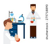 scientific laboratory design ... | Shutterstock .eps vector #275718890
