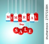 memorial day and sale tag... | Shutterstock .eps vector #275723384