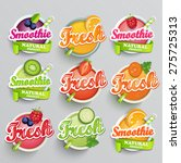 set sticers smoothie with... | Shutterstock .eps vector #275725313