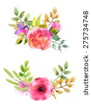 watercolor flowers set.... | Shutterstock .eps vector #275734748