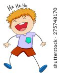 close up happy boy laughing... | Shutterstock .eps vector #275748170
