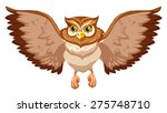 brow owl with open wings | Shutterstock .eps vector #275748710