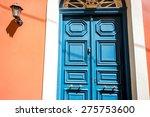 Old Blue Painted Vintage Door...