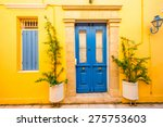 Colorful Facade With Blue...