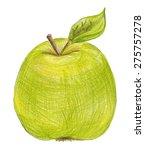 Green Apple. Fruit....
