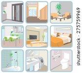 interior   room   Shutterstock .eps vector #275759969