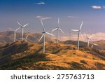 Landscape With Hills And Wind...