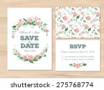 wedding set with watercolor... | Shutterstock .eps vector #275768774