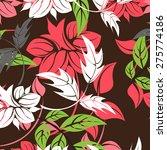 vector seamples pattern flower  | Shutterstock .eps vector #275774186