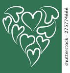 heart shapes | Shutterstock .eps vector #275774666