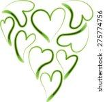 heart shapes | Shutterstock .eps vector #275774756