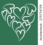 heart shapes | Shutterstock .eps vector #275774759