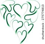 heart shapes | Shutterstock .eps vector #275774813