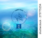 sea vector background calm and... | Shutterstock .eps vector #275775254