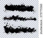 set of vector ink blots with...   Shutterstock .eps vector #275775260
