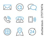 contacts simple vector icon set ... | Shutterstock .eps vector #275776976
