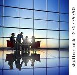 business people meeting... | Shutterstock . vector #275779790