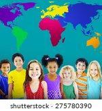 global globalization world map... | Shutterstock . vector #275780390