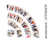 workforce concept united... | Shutterstock . vector #275782679