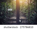 vintage metal gate with private ... | Shutterstock . vector #275786810