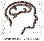 large group of people seen from ... | Shutterstock . vector #275787230