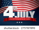 independence day of the usa 4... | Shutterstock .eps vector #275787890