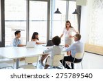 businesswoman presenting to... | Shutterstock . vector #275789540
