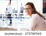 portrait of smiling woman in... | Shutterstock . vector #275789543