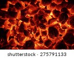 Glowing Hot Charcoal Briquettes ...