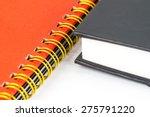 gold binding notebook closeup... | Shutterstock . vector #275791220