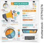 business marketing info graphic ... | Shutterstock .eps vector #275792276