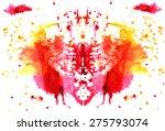 raspberry  yellow watercolor... | Shutterstock .eps vector #275793074