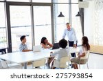 businessman presenting to... | Shutterstock . vector #275793854