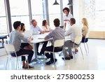 businesswoman presenting to... | Shutterstock . vector #275800253