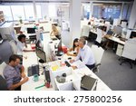 people working in a busy office | Shutterstock . vector #275800256