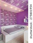 modern blue children bedroom... | Shutterstock . vector #275801954