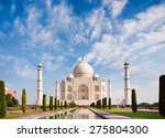 taj mahal on a sunny day with... | Shutterstock . vector #275804300