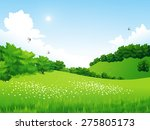 vector green landscape with... | Shutterstock .eps vector #275805173